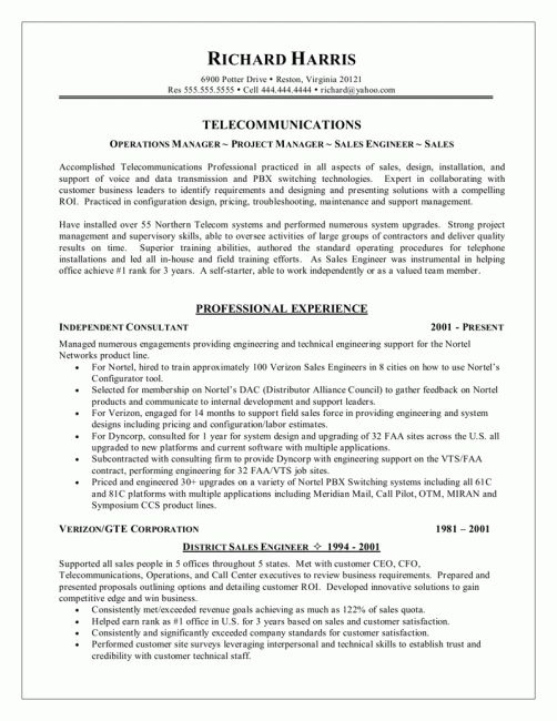 telecom engineer cover letter sle livecareer resume