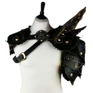 Blackriver Leather Ornate Battle Armour - Gothic Pauldron Shoulder Armour - Click to enlarge