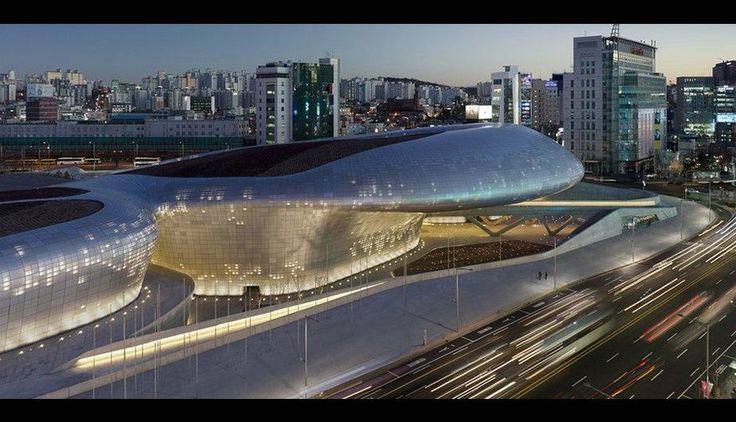 El Dongdaeum Design Plaza, de Seúl (Corea del Sur). (Foto: BBC)