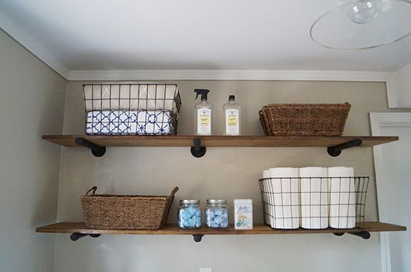 Diy Laundry Room Storage Ideas Pipe Shelving Shelf