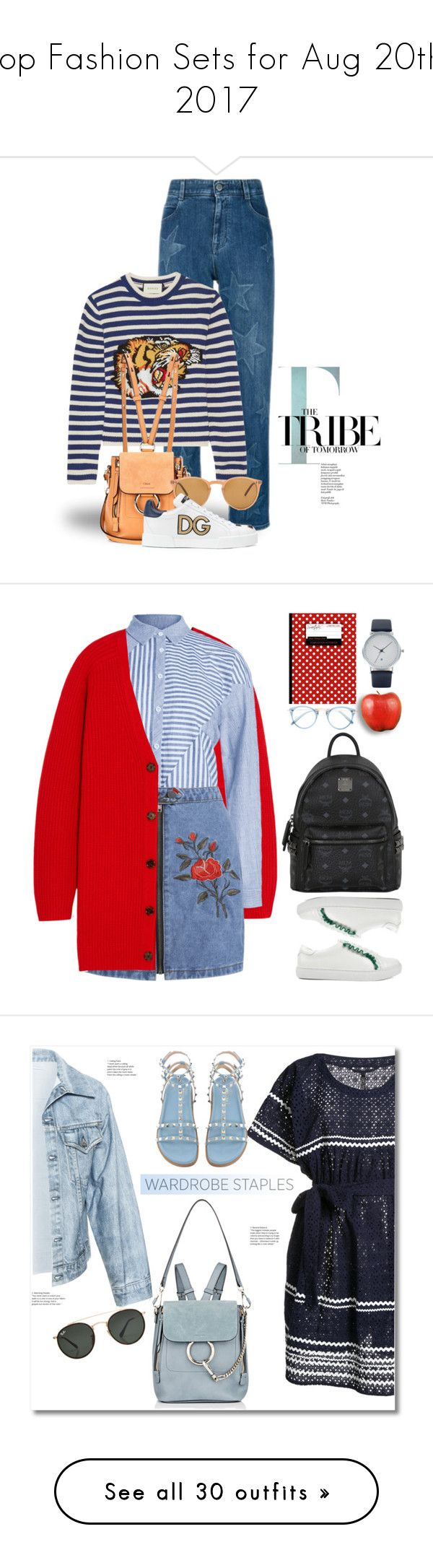 """""""Top Fashion Sets for Aug 20th, 2017"""" by polyvore ❤ liked on Polyvore featuring STELLA McCARTNEY, Gucci, Chloé, Oliver Peoples, Dolce&Gabbana, tfp, MCM, BackToSchool, outfit and WardrobeStaples"""