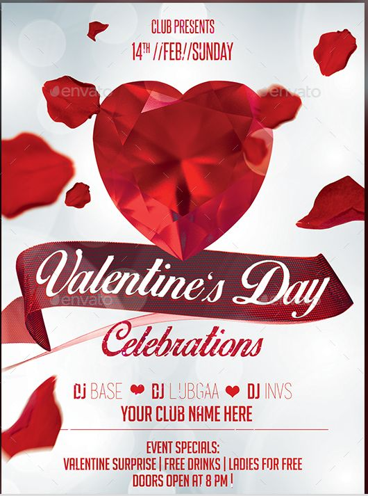 22 Best 22 Awesome Valentines Day Flyer Template Designs Images On