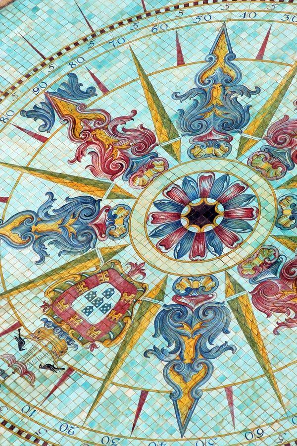 Tiles on the terrrace of the Four Seasons Hotel, Lisbon, Portugal