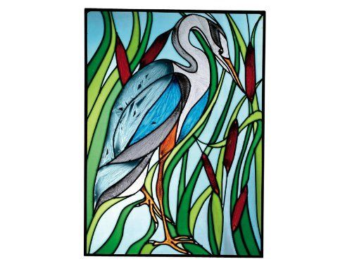 Great BLUE HERON Window BIRD Wildlife 10.25 x 14 RUSTIC Stained Glass Suncatcher by eEarthExchange. $59.95. Suncatcher Window 10.5 inches x 14 inches, Metal framed. Comes with hooks and chain for immediate placement. More Rustic and Wildlife suncatchers in our store. Proudly Made in the USA, ships via UPS Ground with insurance.. **  ** SHIPS UPS - Order BY DECEMBER 13 for CHRISTMAS DELIVERY **  **. Like no other product, art glass delivers high visual impact! The ...