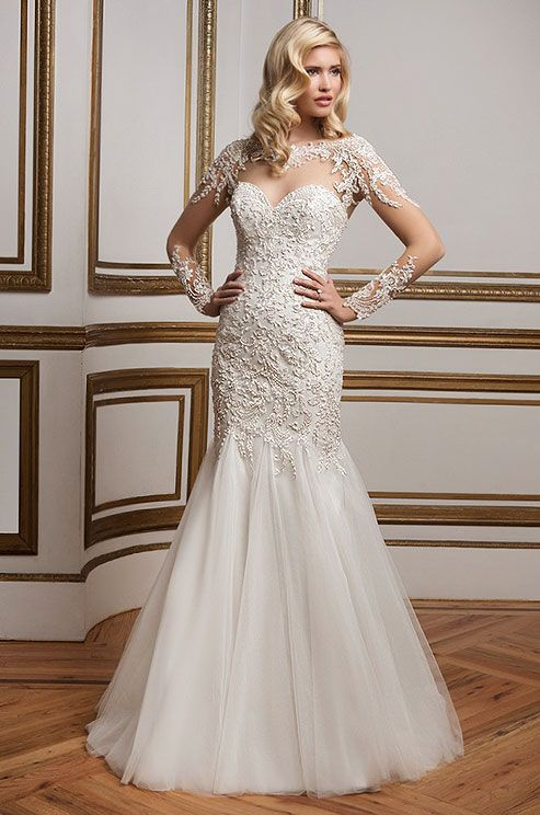 486 Best Long Sleeved Wedding Dresses Images On Pinterest Gowns Frocks And Homecoming Straps