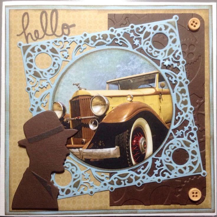 Mannenkaart met autoplaatje van Dixi