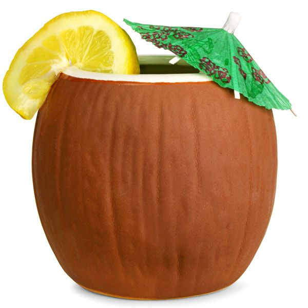 Add a hint of Hawaiian flair to all your drinks with the Ceramic Coconut Mug. With a taste of tropical paradise, you can enjoy cocktails in the traditional Hawaiian way. The realistic details are enough to fool anyone that you're relaxing on the beach, si