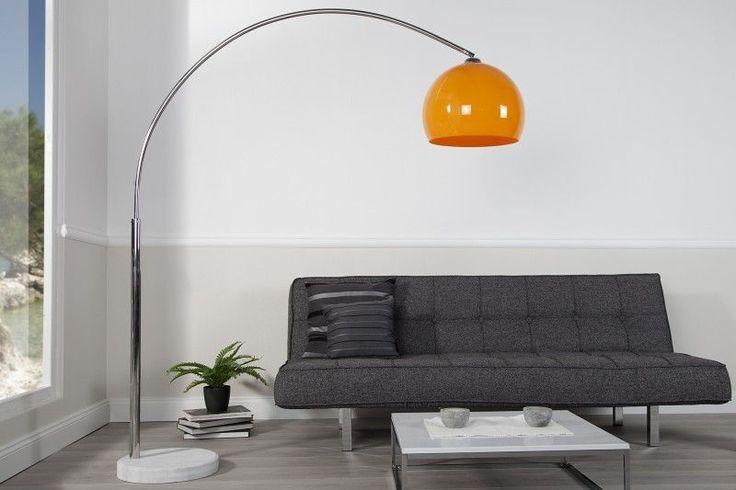 Arc lamp BIG BOW II orange floor lamp bow standard lamp floor light lighting in Home, Furniture & DIY, Lighting, Lamps | eBay