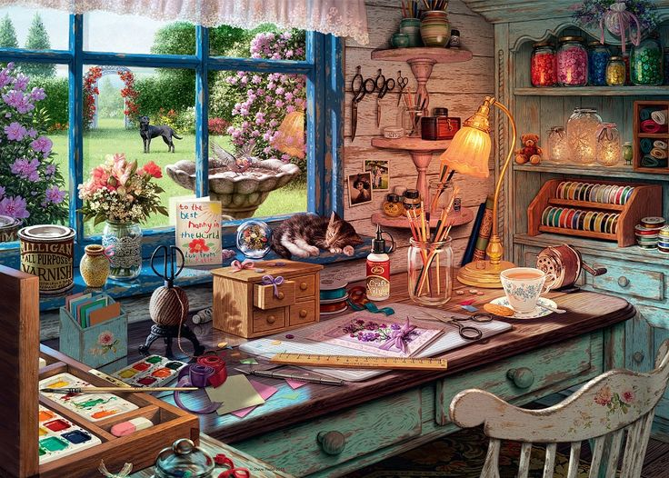 PUZZLE === My Haven No 1, The Craft Shed 1000pc - RB19590 === RAVENSBURGER in Toys & Games, Jigsaws & Puzzles, Jigsaws   eBay