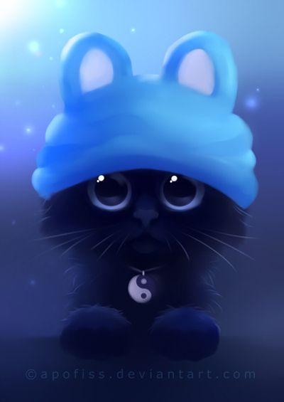 yin the cat by Apofiss on deviantART