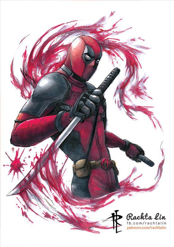 #Deadpool #Fan #Art. (Deadpool) By:Rachta. ÅWESOMENESS!!!™ ÅÅÅ+