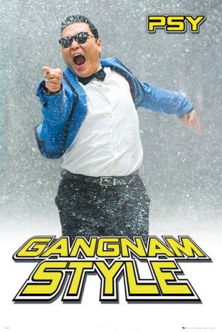 Psy Gangnam Snow - plakat - 61x91,5 cm  Gdzie kupić? www.eplakaty.pl