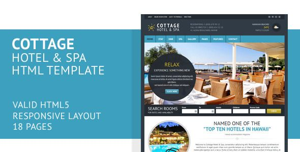 Cottage Responsive Hotel Template
