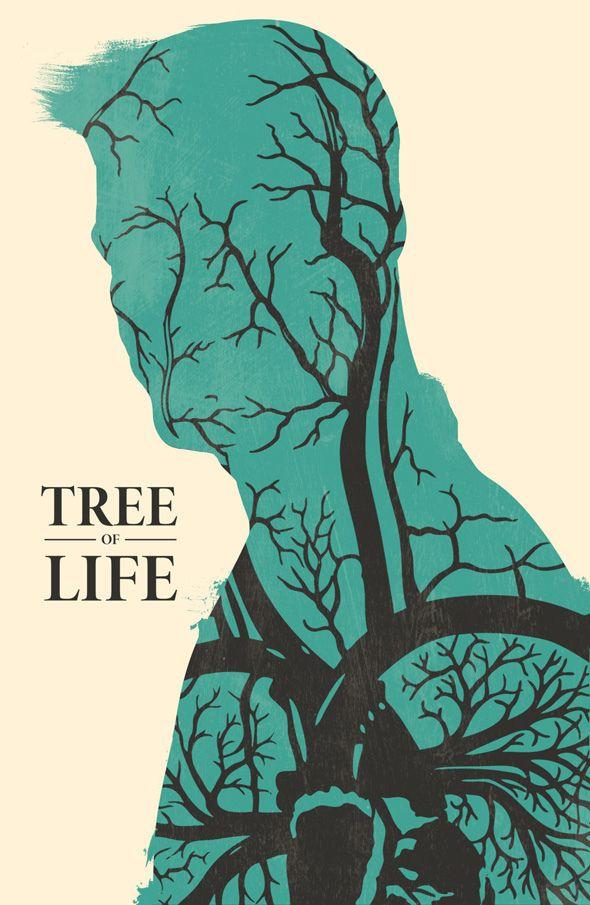 Poster minimalista de A Árvore da Vida.