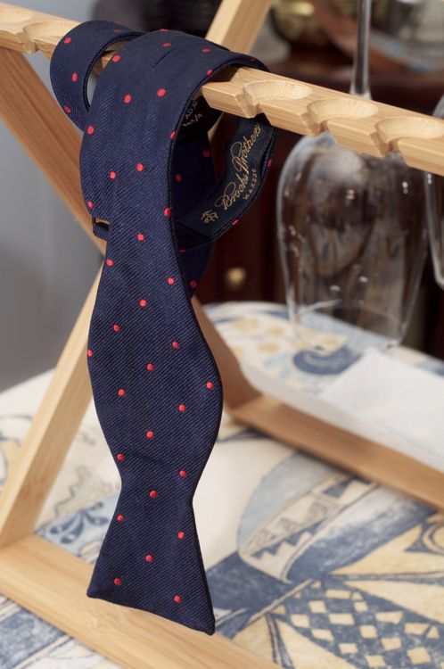 polka dots. I love Brooks Brothers ties.