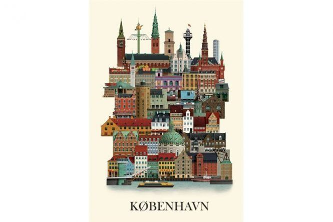 Copenhagen Illustration Poster