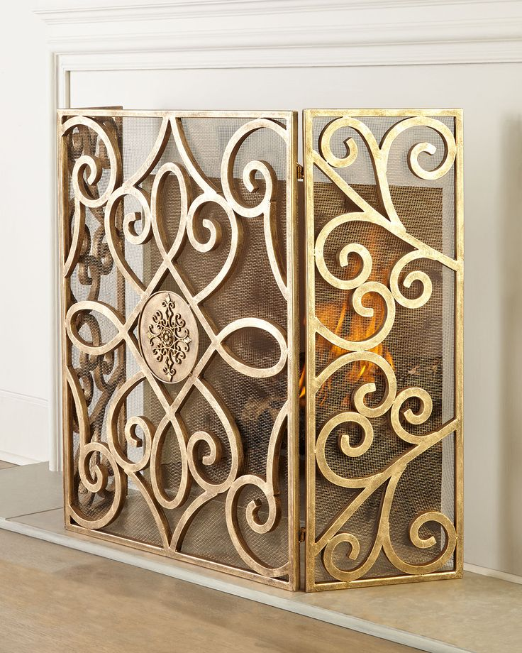 wood fireplace screens. Patrice Medallion Fireplace Screen  Light Gold Neiman Marcus 21 Best Wood Stove Accessories Screens