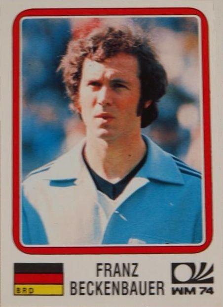 Beckenbauer. 1973-74. Alemania Federal. Mundial de Alemania 1974.