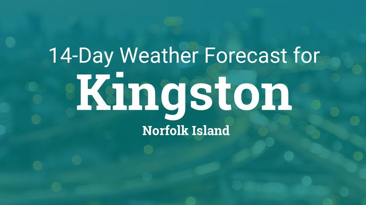Kingston, Norfolk Island 14 day weather forecast