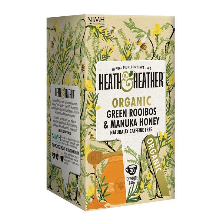 Heath & Heather Rooibos Vert & Manuka 20 Sachets