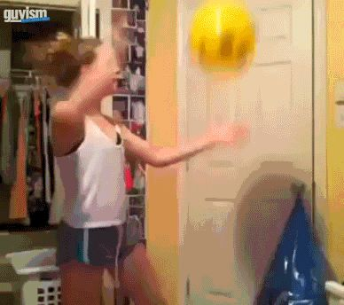 Anyone and everyone who has practiced volleyball in their bedroom: | 21 People Who Immediately Learned Their Lesson