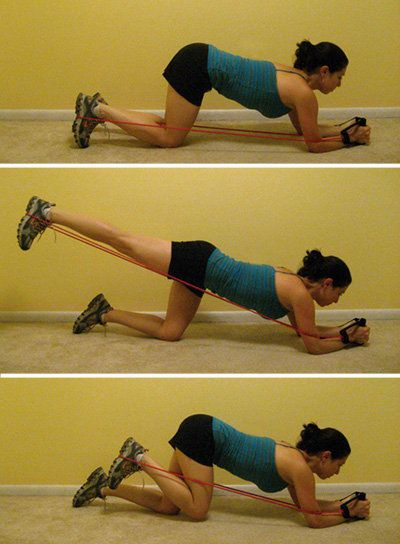 resistance band home workout moves