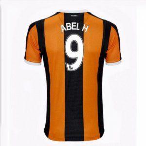 16-17 Hull City FC Cheap Home Abel H #9 Replica Football Shirt [I00331]