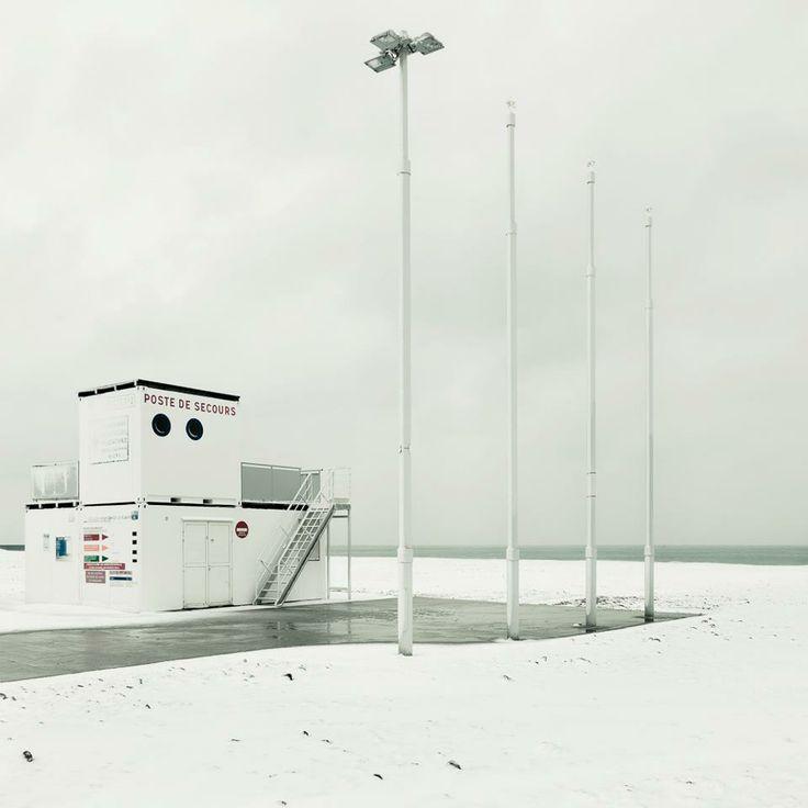 Le Havre . La plage en Hiver. Photo Maxime Janin.