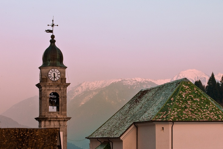 Sunset in Pesariis, Carnia, Italy