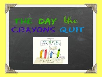 """This Powerpoint file includes a read-aloud lesson for the popular picture book The Day the Crayons Quit by Drew Daywalt. In the lesson students will learn about robust vocabulary from the story and what it means to """"persuade"""". At the end of the lesson you will find three different writing extension activity printables that can be completed whole-group or independently."""