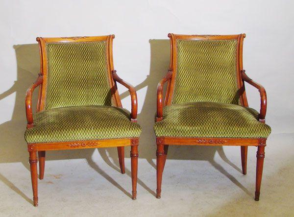 Par de sillones estilo directorio estilo directorio - Sillones de estilo ...