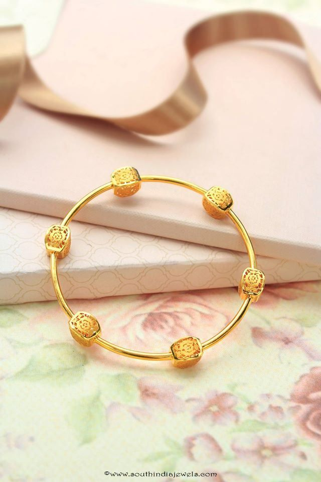 Designer Gold Bangle From Manubhai Jewellers