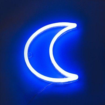 #Wandleuchte #Neon #Mond #blau