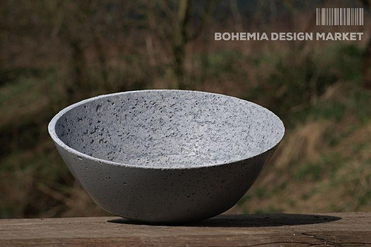 >>Concrete Bowl– by Industry Jewells <<  Enjoy Uniqueness & Quality of Czech Design  http://en.bohemia-design-market.com/designer/industry-jewels @BohemiaDesignM #love #design #czechrepublic #original #concrete
