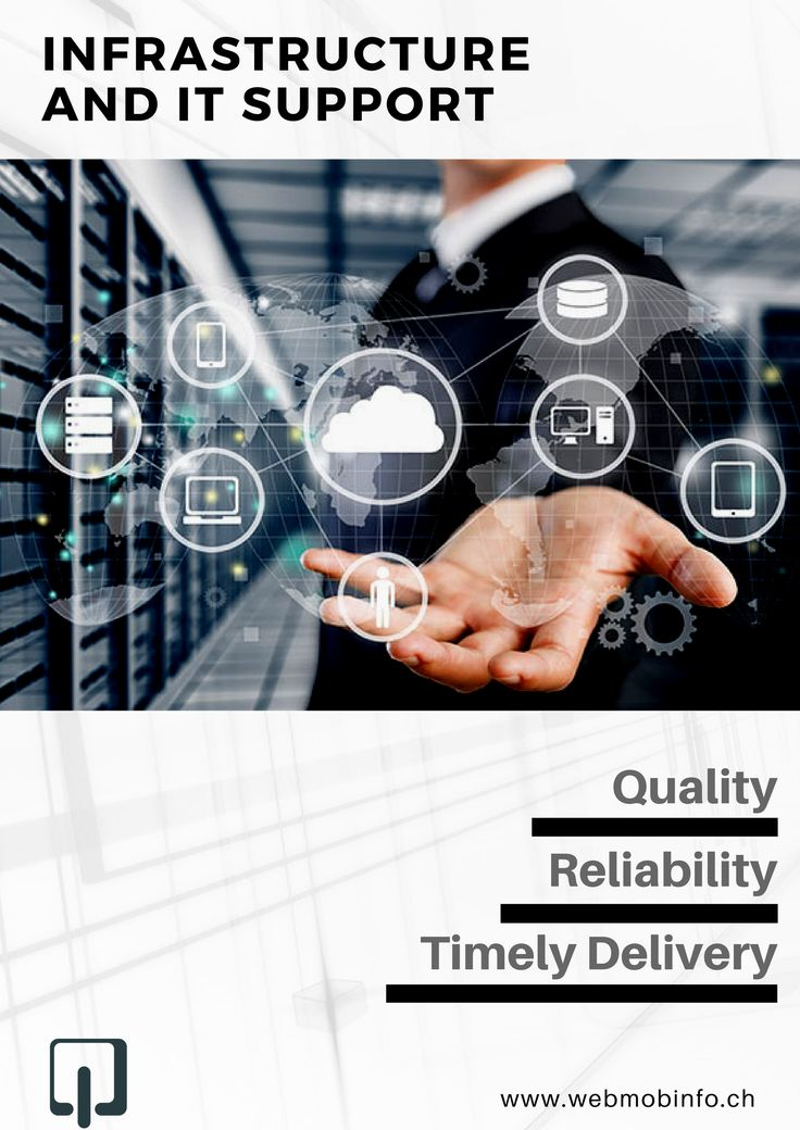 We are a team of experienced IT professionals that has been instrumental in handling and managing remote mail servers, database servers and all kinds of third party applications. Know more here: http://webmobinfo.ch/infrastructure-it-support-company/