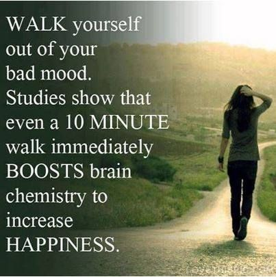 Walk yourself out of your bad mood