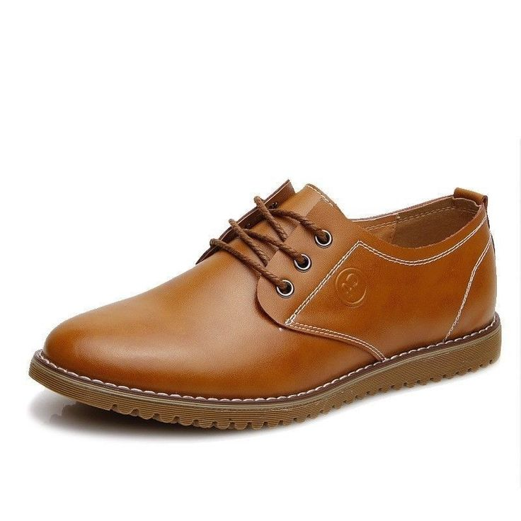New Men's Casual Dress/Formal Genuine Leather Flats Oxfords Shoes Low Chukka Male Lace Up Shoes