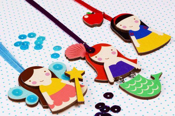 Mintapalinta POP Mermaid wooden pendant, $17 https://www.etsy.com/listing/209821828/mintapalinta-pop-kids-jewelry-unique