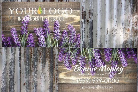 Lavender Wood   Essential Oils  Business Card