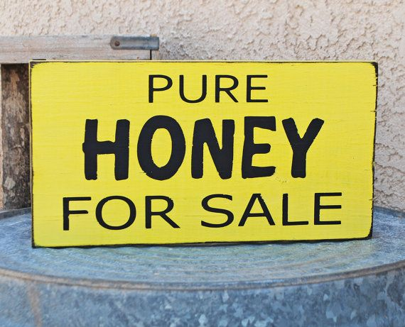Pure Honey For Sale Sign Country Market by snappydesign on Etsy, $17.00