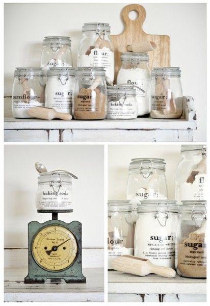 DIY pantry label decals
