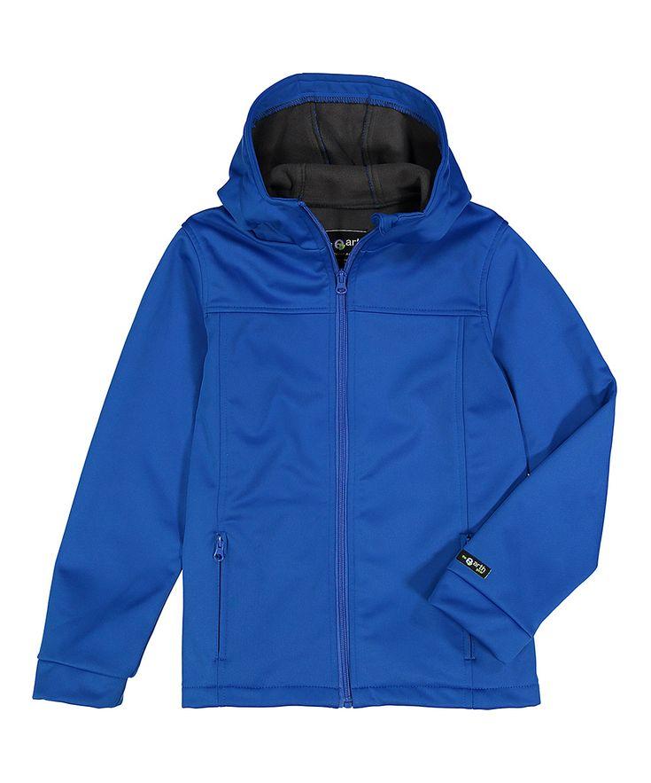 Cobalt Fleece-Interior Softshell Hooded Jacket - Toddler & Boys