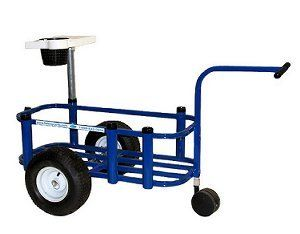"Reels on Wheels PCCARTJR-Blue Fishing Cart JR Blue Powder Coat 14""x34"" 5-rod Holder >>> Click image for more details."