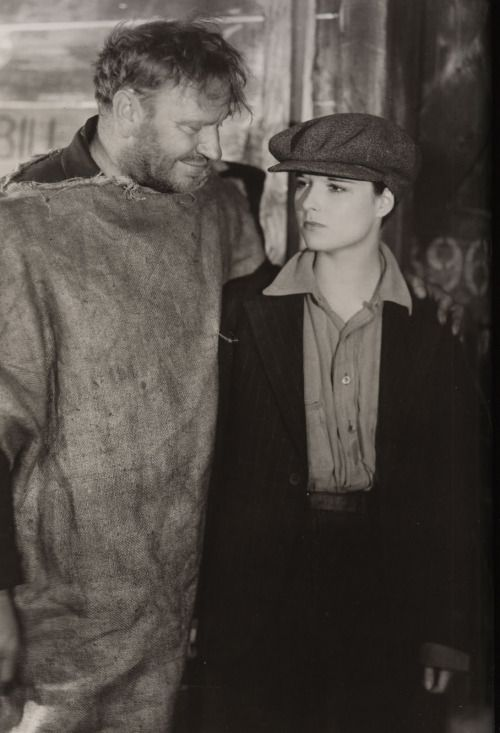 "Wallace Beery and Louise Brooks in ""Beggars of Life"" (1928)"