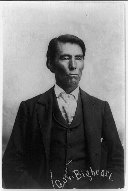 Chief James Bigheart of the Osage Nation. No date or additional information re: this photo.