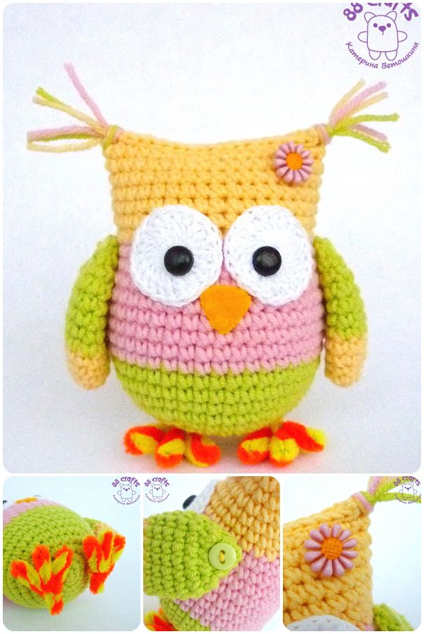Knitting Amigurumi For Beginners : Saka-Knit amigurumi toys: Amigurumi Owl Preparation for ...