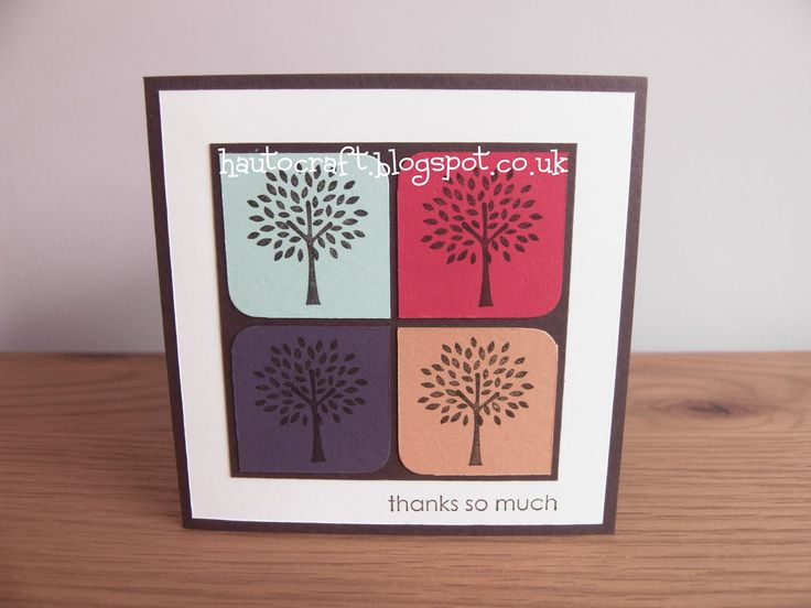 SU Trendy Trees Stamp Set