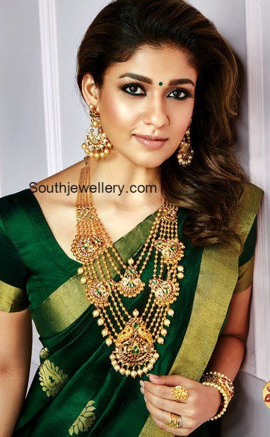 Nayanthara in Antique Gold Jewellery