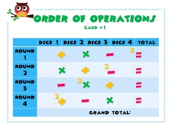 35 best images about Order of Operations on Pinterest ...