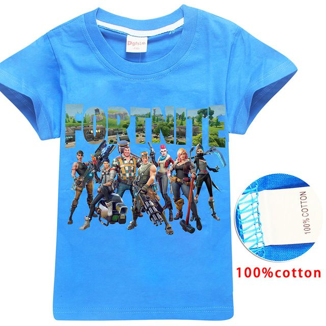 8d096a9e #First4Fashion Fortnite Battle Royale Legend Gaming Pattern Tops Baby Girls  Boys T-shirt